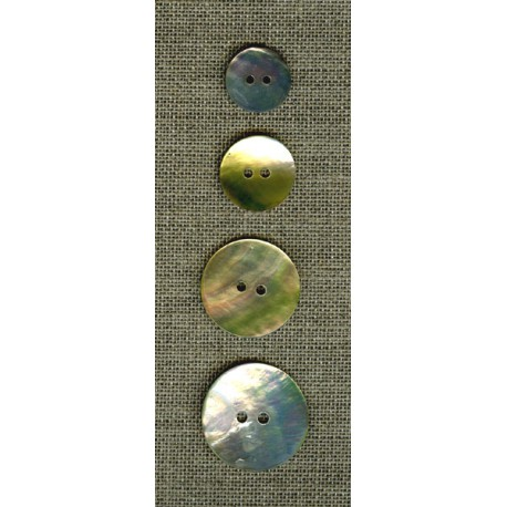 Simple mother-of-pearl buttons, medium sizes