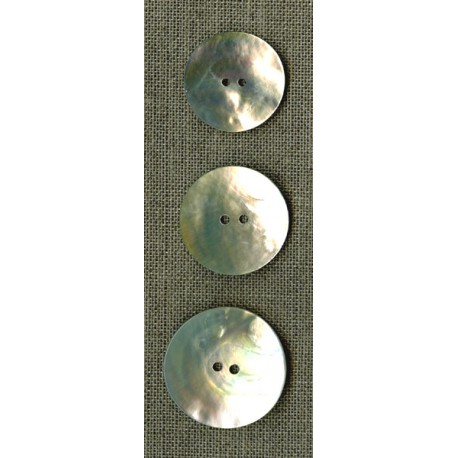 Simple mother-of-pearl buttons, big sizes
