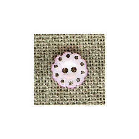 Lace mother-of-pearl button, col. Pale pink