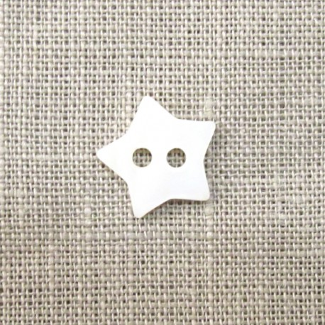 White little star mother-of-pearl Button