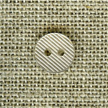 Streaked small button, Ivory