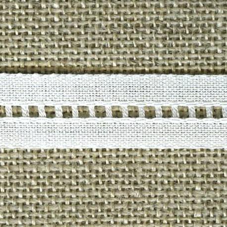 Ruban jours Echelle coton, Blanc