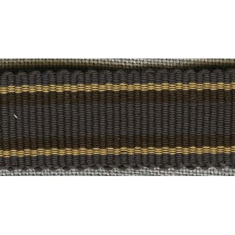 Charcoal/Ebony/Maize grosgrain ribbon