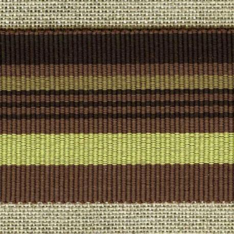 Chic stripes grosgrain ribbon, Espresso/Pistachio/Chocolate 100