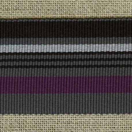 Chic stripes grosgrain ribbon, Midnight blue/Muscat/Steel 118