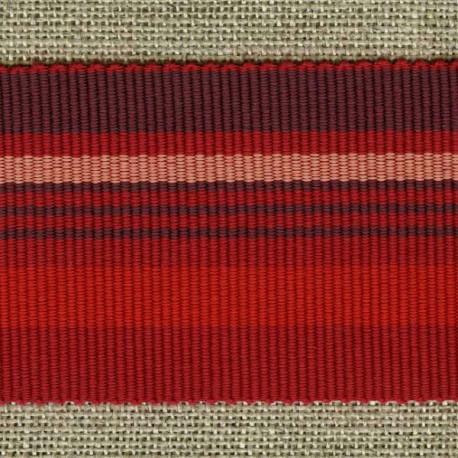 Chic stripes grosgrain ribbon, Vintage/Vermillion/Tomette 15