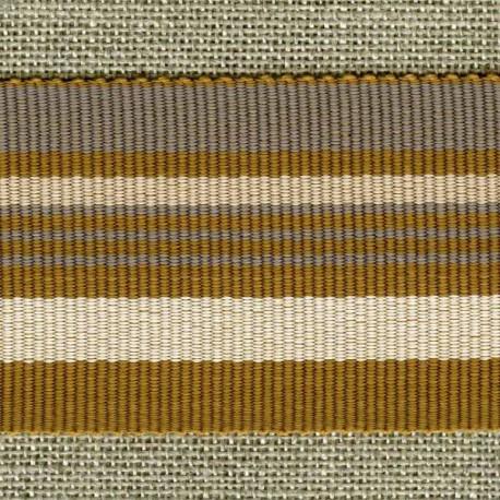 Chic stripes grosgrain ribbon, Smoke/Mousseron/Caramel 203