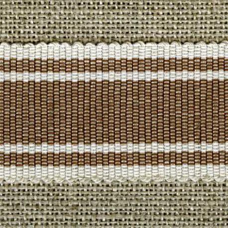 Wafer grosgrain ribbon, Choco/Ivory 100