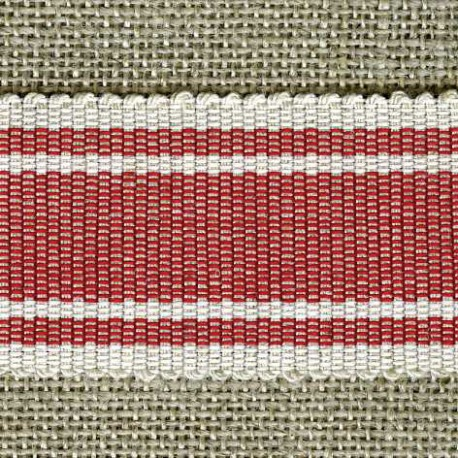 Wafer grosgrain ribbon, Bays/Ivory 16