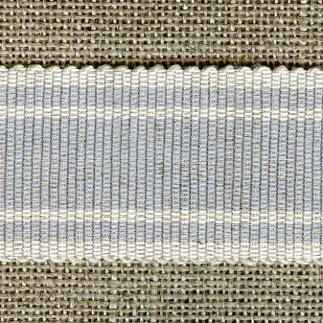 Wafer grosgrain ribbon, Smoke/Ivory 162