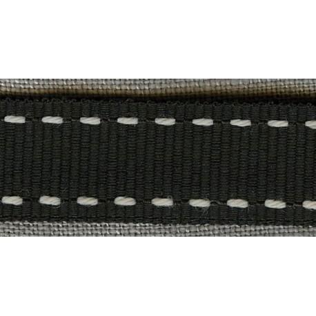 Anthracite/White Grosgrain Ribbon with saddlestitch