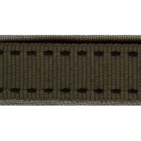 Khaki/Black 4 Grosgrain Ribbon with saddlestitch