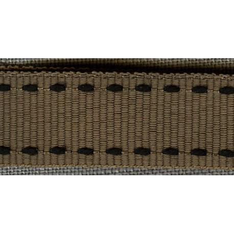 Hazelnut/Black 26 Grosgrain Ribbon with saddlestitch