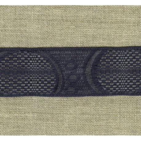 Ruban Jacquard Cinétique, Galet/Ardoise 181
