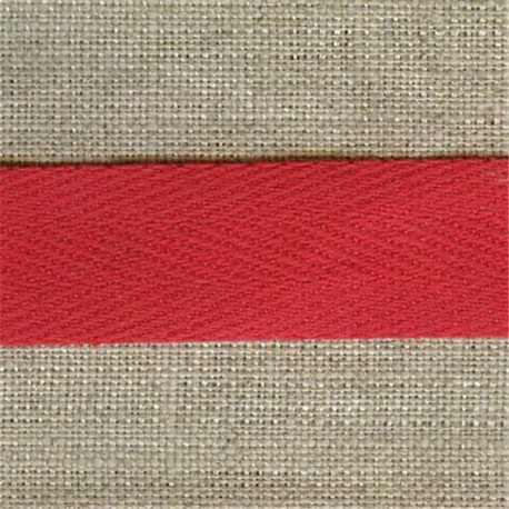 Cotton serge, col. Red 08