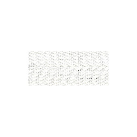 Ruban Serge de coton Herringbone, Blanc 201