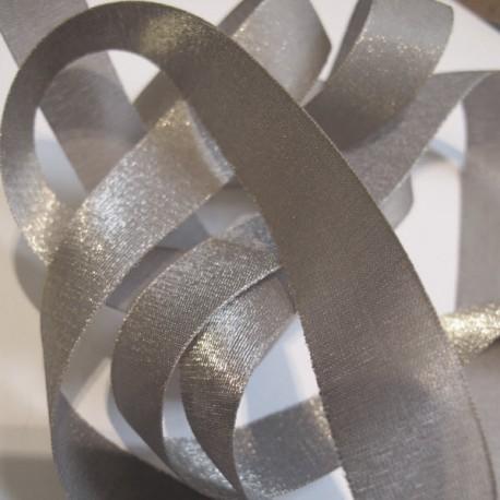 Iridescent taffeta ribbon, col. Seagull 21