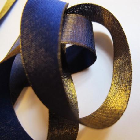 Iridescent taffeta ribbon, col. Indigo 5