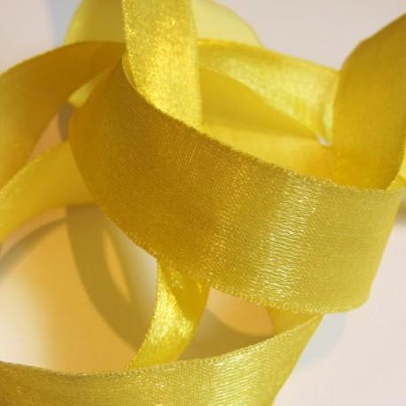 Iridescent taffeta ribbon, col. Mimosa 13
