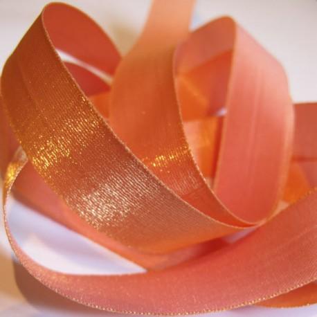 Iridescent taffeta ribbon, col. Peach 7
