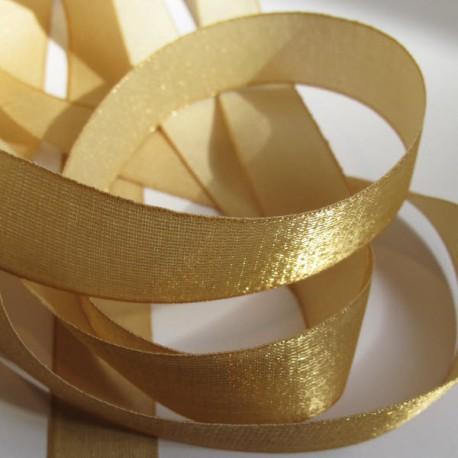 Iridescent taffeta ribbon, col. Champagne 18