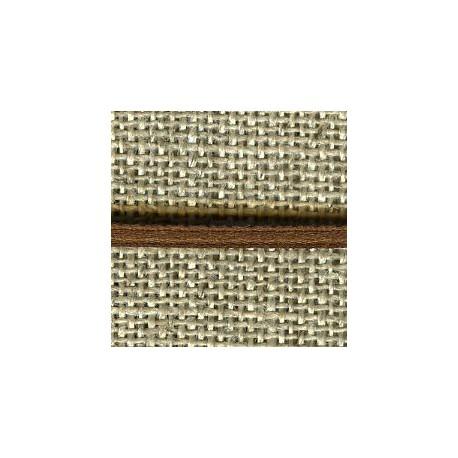 Mini reversible satin ribbon, col. Chocolate 214