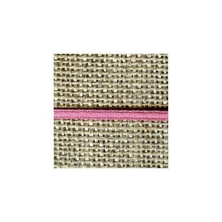 Mini reversible satin ribbon, col. Oleander 298