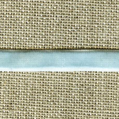 Velvet ribbon elastic, col. 405 Celest Blue