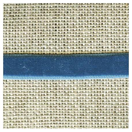 Velvet ribbon elastic, col. 397 Cornflower