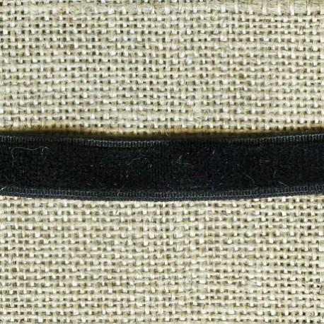 Ruban Velours elastique, col. 233 Nuit Noire
