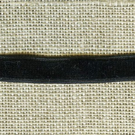 Velvet ribbon elastic, col. 233 Dark Night
