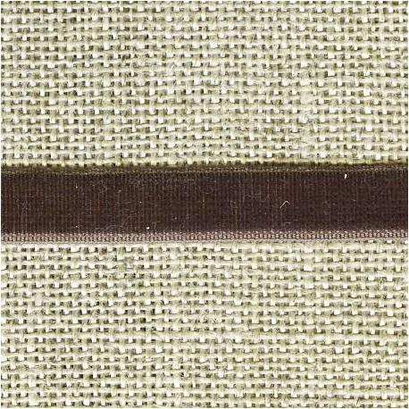 Velvet ribbon elastic, col. 417 Chestnut