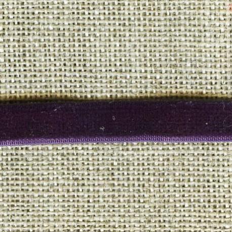 Velvet ribbon elastic, col. 401 Violette blossom