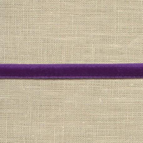 Mini velvet ribbon 5mm, col. Violet 286