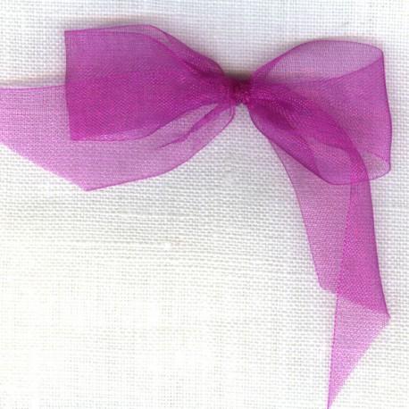 Ruban organdi col. Rose Indien 078