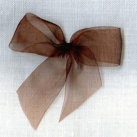 Ruban organdi col. Chocolat 060