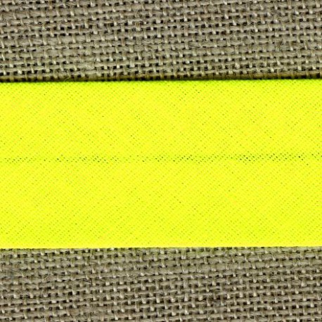 Fluo single-fold bias, col. Yellow lemon