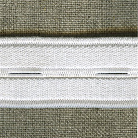 White buttonhole elastic