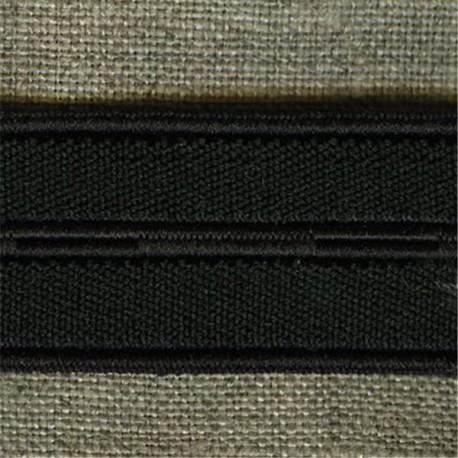 Black buttonhole elastic