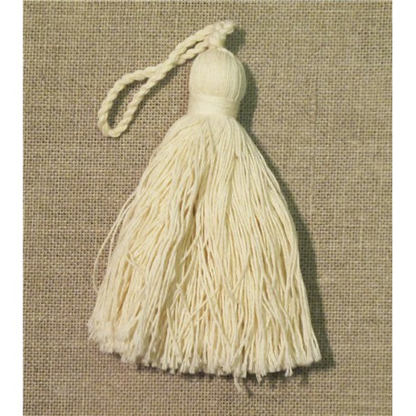 Long cotton tassel, col. Ivory 51