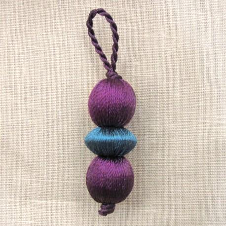 Marbles-tassel, col. Purple/Blue teal