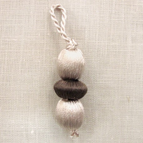 Marbles-tassel, col. Ecru/Chestnut