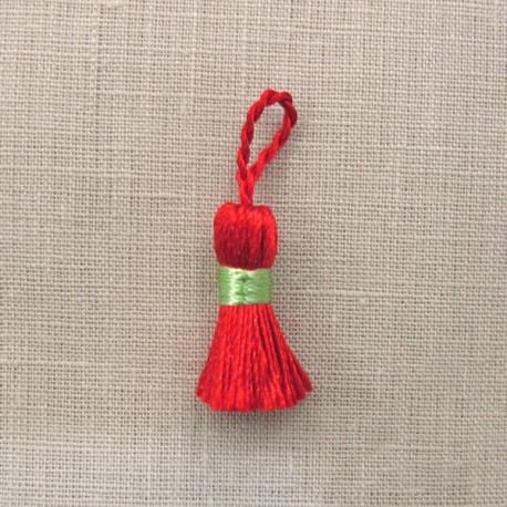 More mini tassel, col. Vermillion/Granny