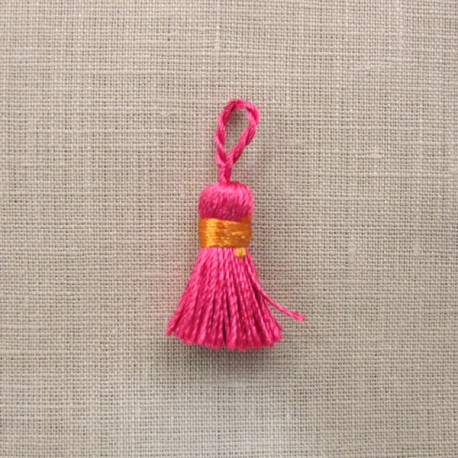 More mini tassel, col. Indian/Mandarin
