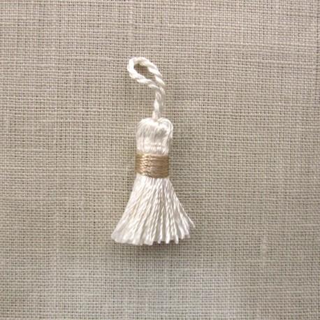 More mini tassel, col. Ivory/Linen