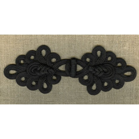 Pine cone frog fastening, col. Black