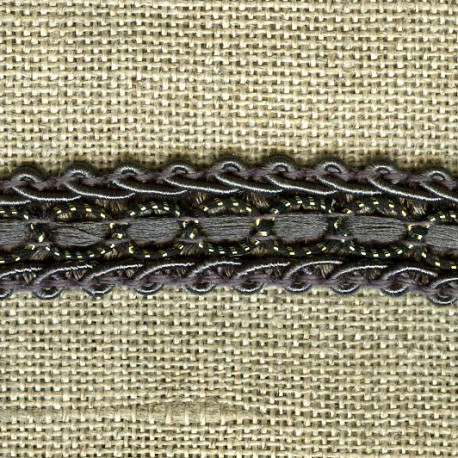 Interlacing braid Boudoir, col. Smocky / Gold 38
