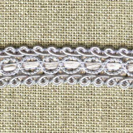 Interlacing braid Boudoir, col.Pearl/ Silver 31