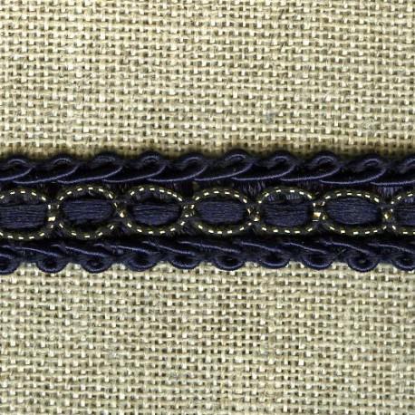 Interlacing braid Boudoir, col. Heure Bleue  / gold 27