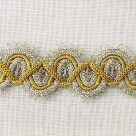 Interlacing Big braid, Rococo col. Light gold and Mustard 42